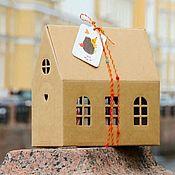 Материалы для творчества ручной работы. Ярмарка Мастеров - ручная работа Коробка Домик #3. Handmade.