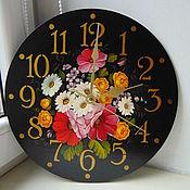 """Для дома и интерьера ручной работы. Ярмарка Мастеров - ручная работа Часы """"Летние цветы"""". Handmade."""