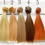 Материалы для творчества handmade. Livemaster - original item Hair/ hair pieces for dolls 15 cm, straight. Handmade.
