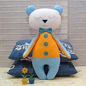 Куклы и игрушки ручной работы. Ярмарка Мастеров - ручная работа Спящий мишка - игрушка комфортер для сна. Handmade.