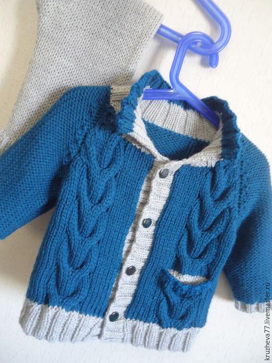 Одежда для мальчиков, ручной работы. Ярмарка Мастеров - ручная работа. Купить Комплект детский теплый на 1-2 года.. Handmade.