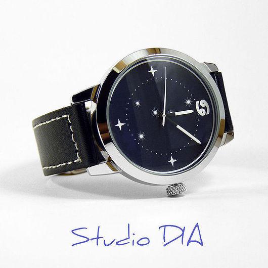 Дизайнерские Часы Знак Зодиака Рак. Студия Дизайнерских Часов DIA.