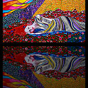 Картины и панно handmade. Livemaster - original item Painting with light/ stained glass painting /stained glass window with backlight Sleep. Handmade.