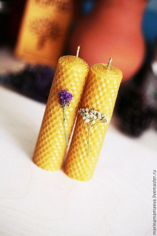 Свечи ручной работы. Ярмарка Мастеров - ручная работа. Купить Восковые свечи. Handmade. Свечи из пчелиного воска, подарочные свечи