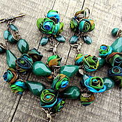 Украшения handmade. Livemaster - original item Emerald city. Jewelry set (bracelet and earrings) with emerald. Handmade.