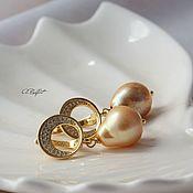 handmade. Livemaster - original item Earrings with natural pearls