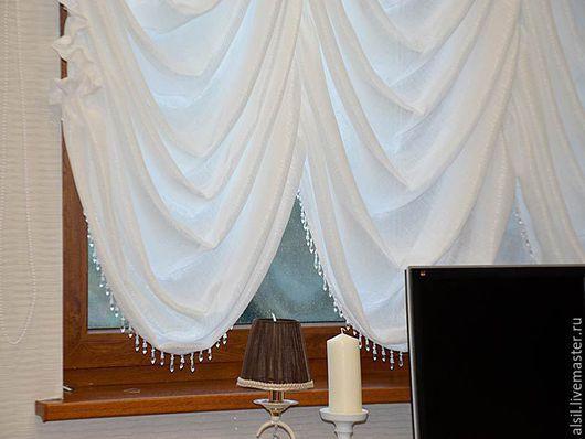 Текстиль, ковры ручной работы. Ярмарка Мастеров - ручная работа. Купить Французская штора в кабинет. Handmade. Шторы, текстиль для дома
