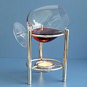 Винтажные стаканы ручной работы. Ярмарка Мастеров - ручная работа Винтажный набор для подогрева коньяка. Handmade.