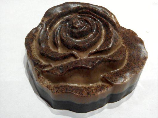Мыло ручной работы. Ярмарка Мастеров - ручная работа. Купить Мыло скраб кофе с абрикосовыми косточками. Handmade.
