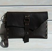 Сумки и аксессуары handmade. Livemaster - original item Bag leather Clutch leather Casual Nut.. Handmade.