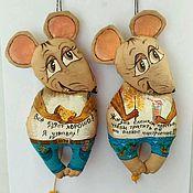 Год Крысы ручной работы. Ярмарка Мастеров - ручная работа Мышка кофейный позитив. Handmade.