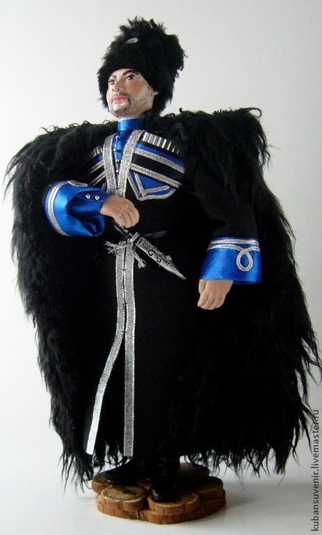 """Подарки для мужчин, ручной работы. Ярмарка Мастеров - ручная работа. Купить """"Терский казак"""". Handmade. Национальная кукла, терский"""