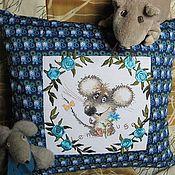 """Для дома и интерьера ручной работы. Ярмарка Мастеров - ручная работа Подушка """"Влюбленный мышонок"""". Handmade."""