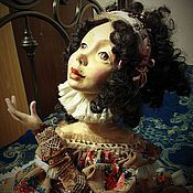 """Куклы и игрушки ручной работы. Ярмарка Мастеров - ручная работа Авторская будуарная кукла """"Юленька"""".. Handmade."""