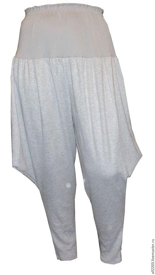 Брюки, шорты ручной работы. Ярмарка Мастеров - ручная работа. Купить Трикотажные брюки. Handmade. Разноцветный