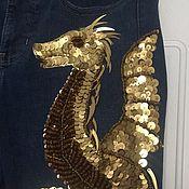 Одежда ручной работы. Ярмарка Мастеров - ручная работа Дракон из крупных пайеток. Handmade.