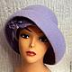 """Шляпы ручной работы. Ярмарка Мастеров - ручная работа. Купить Шляпка """"Viola"""". Handmade. Бледно-сиреневый, шляпка с цветами"""