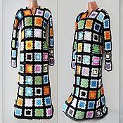 Одежда handmade. Livemaster - original item Dress Squares long. Handmade.