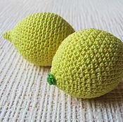 Куклы и игрушки ручной работы. Ярмарка Мастеров - ручная работа Вязаные фрукты. лимон. Handmade.