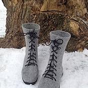 Обувь ручной работы. Ярмарка Мастеров - ручная работа Войлочные ботинки. Handmade.