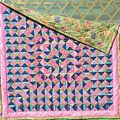 Для дома и интерьера ручной работы. Ярмарка Мастеров - ручная работа Яркое, деревенское. одеяло  лоскутное. Handmade.