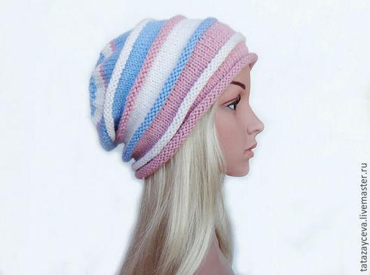 """Шапки ручной работы. Ярмарка Мастеров - ручная работа. Купить Вязаная шапка бини """"Зимняя нежность"""", женская шапка, зимняя шапка. Handmade."""