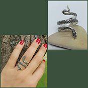 Украшения handmade. Livemaster - original item Ring snake. Snake Ring. Silver 925 sample.. Handmade.