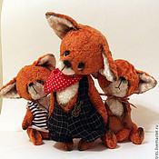 Куклы и игрушки ручной работы. Ярмарка Мастеров - ручная работа Лисья семейка. Handmade.