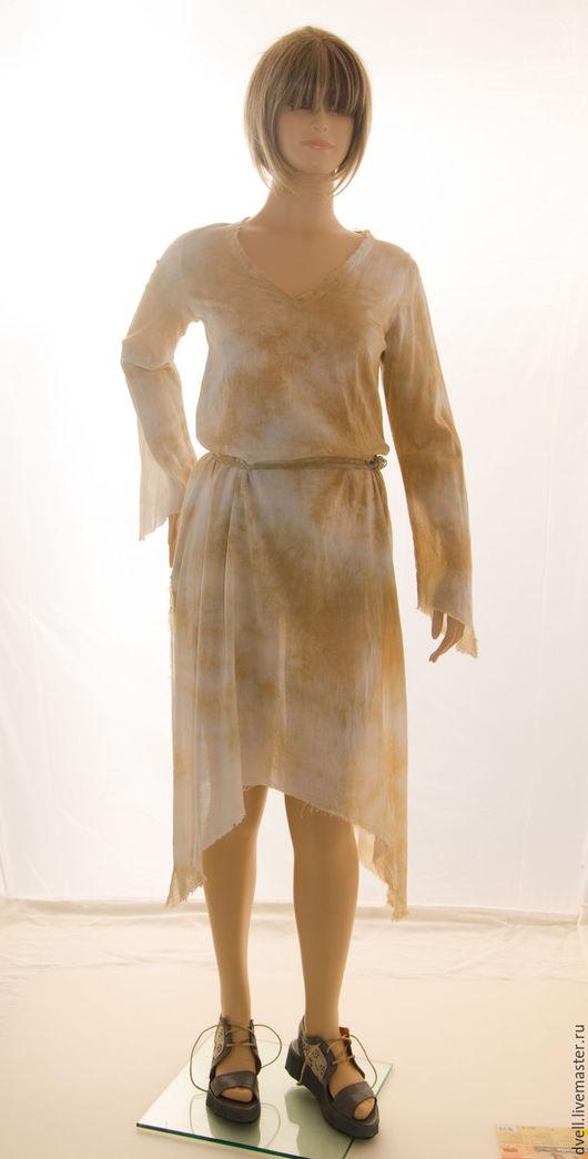 Пляжные платья ручной работы. Ярмарка Мастеров - ручная работа. Купить Бохо платье Акварель для отдыха и солнца невесомая модель жаркого лета. Handmade.