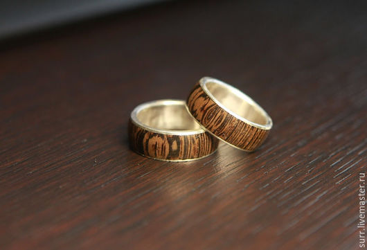 Свадебные украшения ручной работы. Ярмарка Мастеров - ручная работа. Купить Обручальные кольца с венге. Handmade. Обручальные кольца, кольца