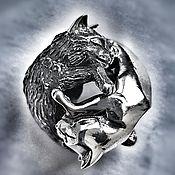 """Украшения handmade. Livemaster - original item Double bead """"Moon cats"""". Handmade."""