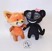 Куклы и игрушки handmade. Livemaster - original item Freddie Fox and Cougar Evie on the grounds of the viber sticker (toy). Handmade.