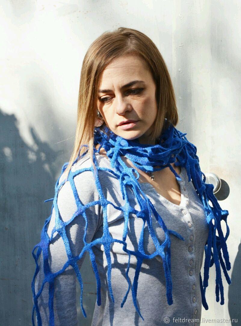Шарф-сетка. Войлок, Береты, Смоленск, Фото №1