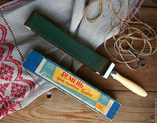 Винтажные предметы интерьера. Ярмарка Мастеров - ручная работа. Купить Ремень для правки бритв. Handmade. Комбинированный, для бритвы, продаю