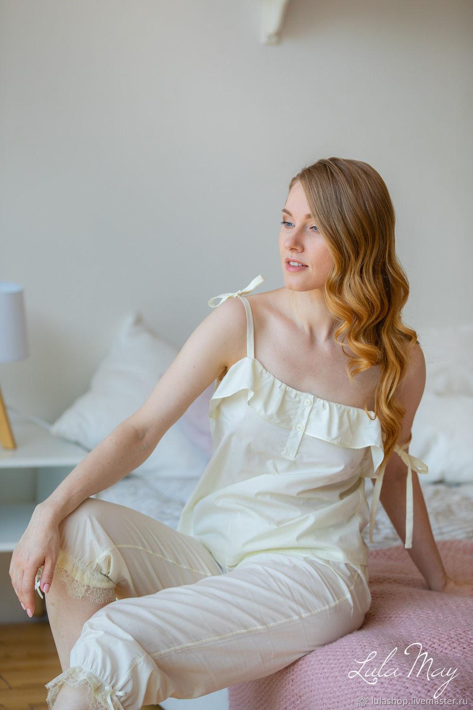 Пижама с панталончиками ванильная, Комбинации, Москва,  Фото №1