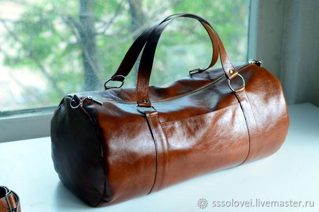 7b45cdbdff18 Спортивные сумки ручной работы. Ярмарка Мастеров - ручная работа. Купить  Спортивная кожаная сумка ...