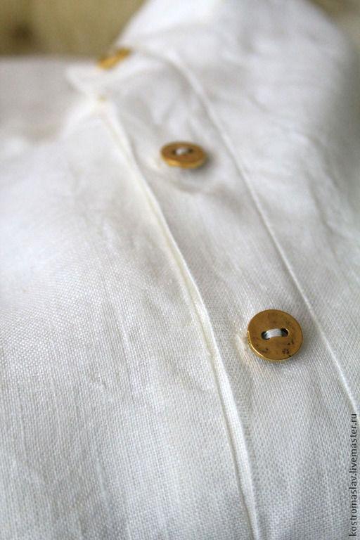 Одежда ручной работы. Ярмарка Мастеров - ручная работа. Купить Косоворотка классическая. Handmade. Белый, гимнастерка, Льняная рубаха