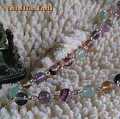 Украшения handmade. Livemaster - original item Fluorite necklace in Wire Wrap technique. Handmade.