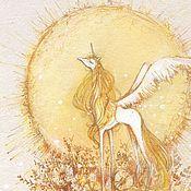Картины и панно handmade. Livemaster - original item Pictures: Sunny Unicorn. Handmade.