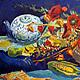 Натюрморт ручной работы. Ярмарка Мастеров - ручная работа. Купить Натюрморт. Handmade. Синий, подарок, живопись маслом, белый, желтый