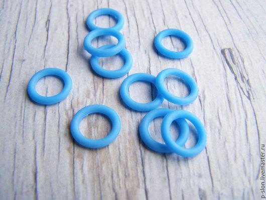 Для украшений ручной работы. Ярмарка Мастеров - ручная работа. Купить Колечки силиконовые для regaliz (регализ) голубые. Handmade.