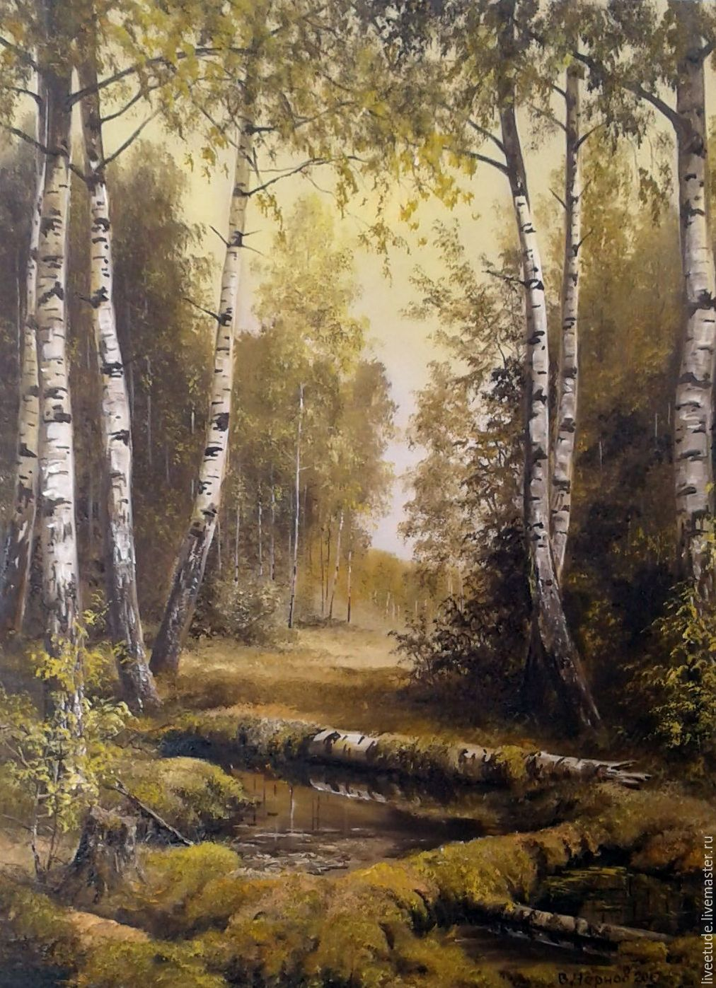oil painting in depth landscape shop online on livemaster with