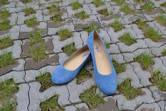 Обувь ручной работы. Ярмарка Мастеров - ручная работа. Купить Туфли лодочка. Handmade. Синий, удобная обувь