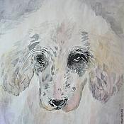 """Картины и панно ручной работы. Ярмарка Мастеров - ручная работа акварель """"Портрет собаки 2"""". Handmade."""