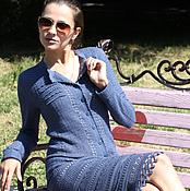 """Одежда ручной работы. Ярмарка Мастеров - ручная работа Платье вязаное """"Шелковые грезы"""". Handmade."""