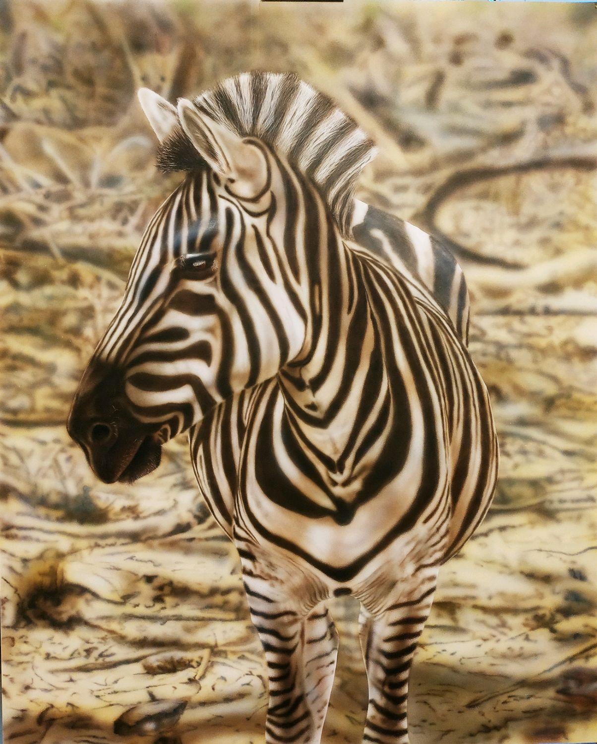 Животные ручной работы. Ярмарка Мастеров - ручная работа. Купить Картина Зебра. Handmade. Живопись, африка, зебра, картина, подарок