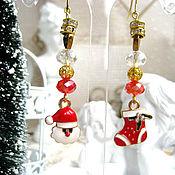 Украшения handmade. Livemaster - original item Earrings with pendants New Year`s two options. Handmade.