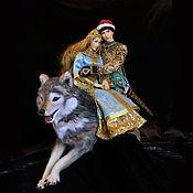 Куклы и игрушки ручной работы. Ярмарка Мастеров - ручная работа Иван Царевич и Елена Прекрасная на сером волке. Handmade.