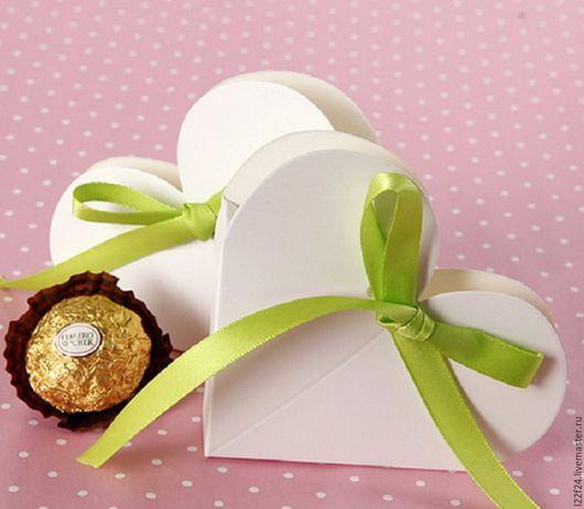 """Упаковка ручной работы. Ярмарка Мастеров - ручная работа. Купить Коробка белая """"сердечко"""". Handmade. Белый, коробочка, коробочка для подарка"""