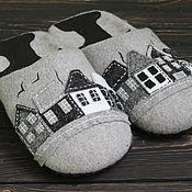 """Обувь ручной работы. Ярмарка Мастеров - ручная работа Тапочки """"Белые ночи"""" мужские резерв. Handmade."""